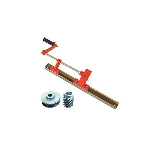 Actionare manuala cu frana si sipca pentru centrifuga tangentiala 4 rame
