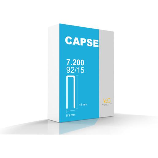Capse tip U 92/15 pentru capsator pneumatic, 7200 buc/cutie