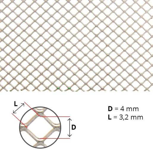 Plasa antivarroa din zn (ochi patrat 3.2 x 3.2mm)