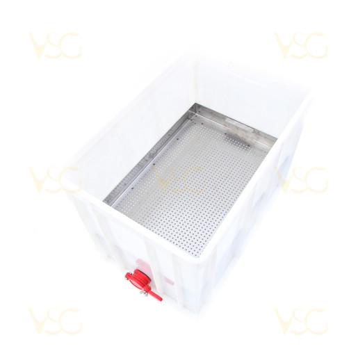 Tava descapacit 40 cm plastic cu filtru inox, canea si suport rame 3