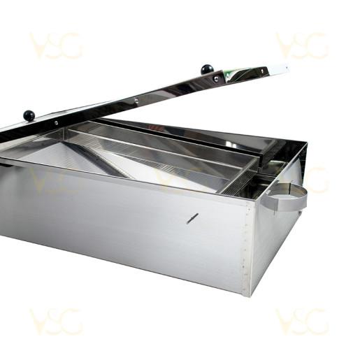 Topitor solar pentru ceara din inox mare 2