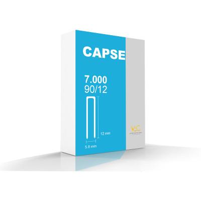 Capse tip U 90/12 pentru capsator pneumatic, 7000 buc/cutie