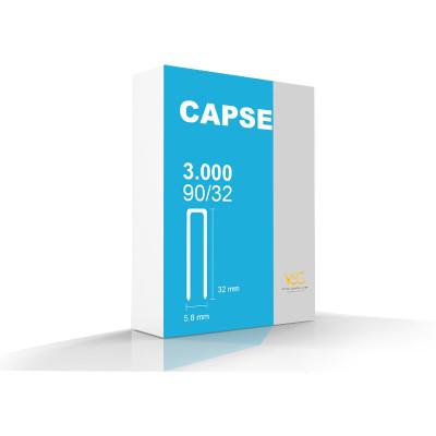 Capse tip U 90/32 pentru capsator pneumatic,  3000 buc/cutie