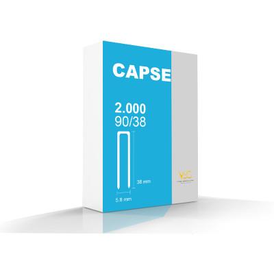 Capse tip U 90/38 pentru capsator pneumatic, 2000 buc/cutie