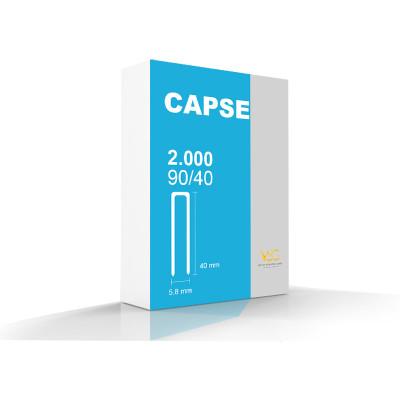 Capse tip U 90/40 pentru capsator pneumatic,  2000 buc/cutie