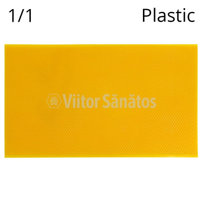 Faguri plastic 1/1 galbeni grosi
