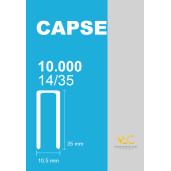 Capse tip U 14/35 pentru capsator pneumatic, 10000 buc/cutie