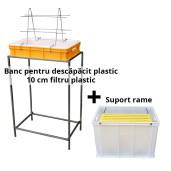 Banc pentru descapacit plastic 10 rame filtru plastic +suport rame